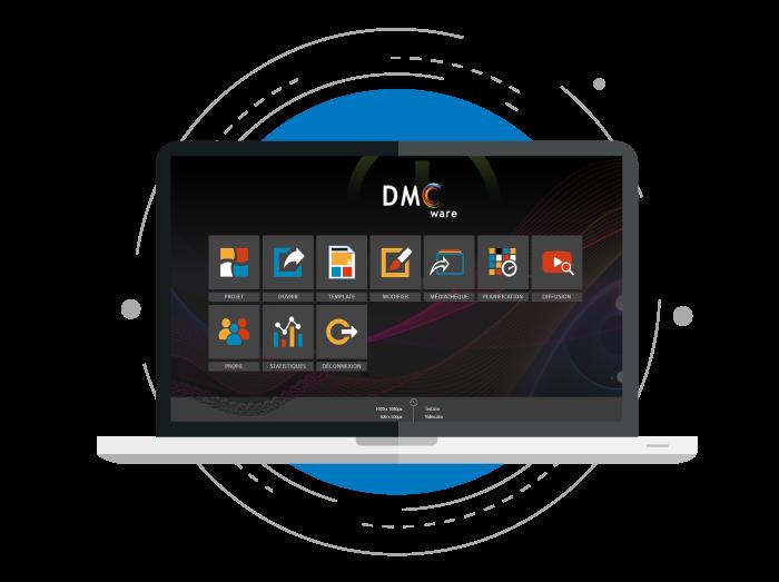 DMCware - Logiciel d'Affichage Dynamique par Display media